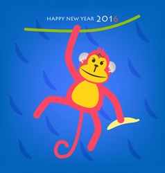 Happy new year monkey year concept 2016 vector