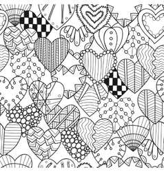 Seamless black white pattern with decorative vector image