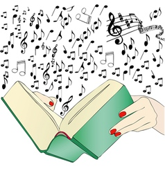 A music book vector image vector image