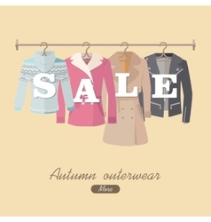 Autumn sale concept in flat design vector