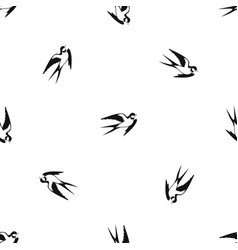 Barn swallow pattern seamless black vector