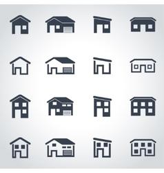 black house icon set vector image vector image