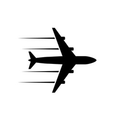 Black icon plane vector