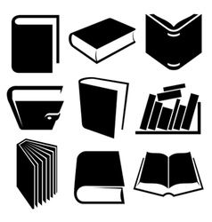 book icon and logo set vector image vector image