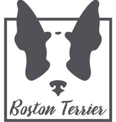 Boston terrier silhouette logo concept vector