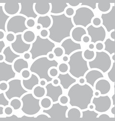 Bubbles and circles seamless pattern vector