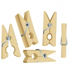 clothes pins vector image vector image
