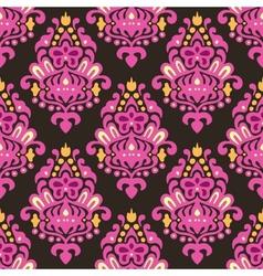 Damask Flourish seamless pattern vector image vector image