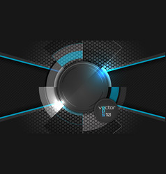 Dark abstract wallpaper with circle pattern and vector image vector image
