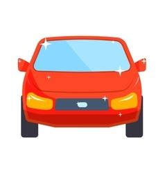 Generic red car luxury design flat vector image