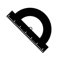 geometry protactor school pictogram vector image