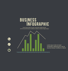 Graph design business infographic collection vector