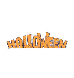 halloween holiday header vector image