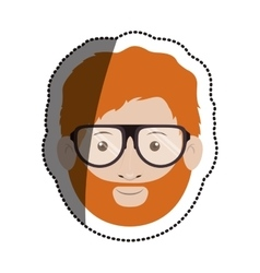 Isolated man with glasses design vector