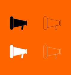 loud speaker or megaphone black and white set vector image vector image