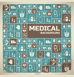 Medical background metro style vector