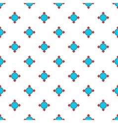 Planet and pointers pattern cartoon style vector