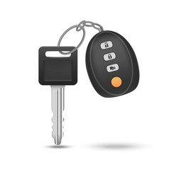 realistic detailed auto car key with remote vector image