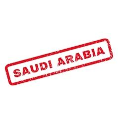 Saudi Arabia Rubber Stamp vector image vector image