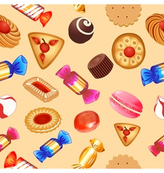 seamless background with candies vector image vector image