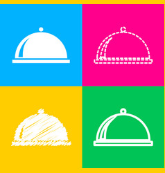 server sign four styles of icon on vector image