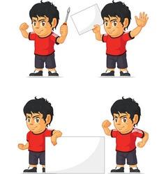 Soccer boy customizable mascot 19 vector