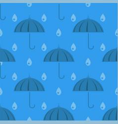 Umbrella and rain drops seamless pattern vector