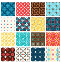 vintage spanish tiles set vector image vector image