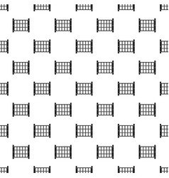 Yard fence pattern vector