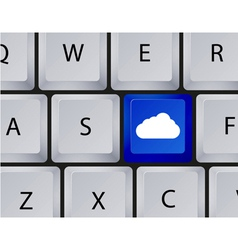 Keyboard cloud button vector