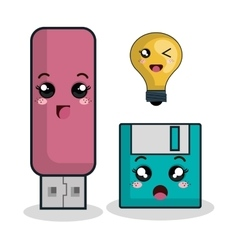 Cartoon usb floppy technology digital design vector