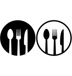 Sign with spoon fork and knife vector