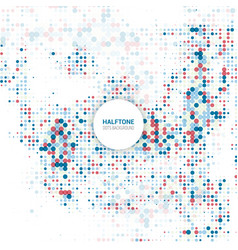halftone dots background 2501 vector image