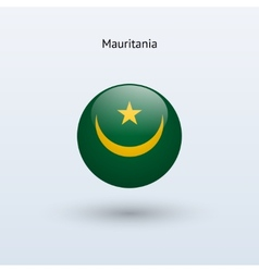 Mauritania round flag vector