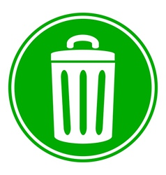 Garbage button vector