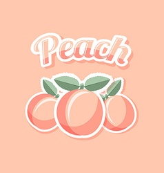 Retro peach vector