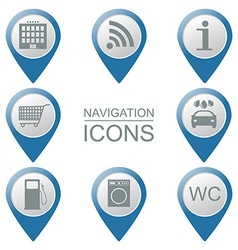 Set of navigation icons volumetric public vector