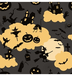 Halloween seamless patterns holiday design vector