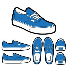 classic era shoes vector image