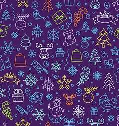 Christmas season seamless pattern vector