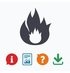 Fire sign icon flame symbol vector