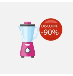 Sale of household appliances blender vector