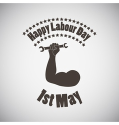 Labour day emblem vector