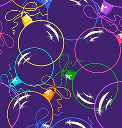 Seamless pattern of christmas balls vector
