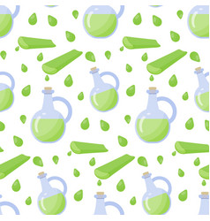 Aloe vera gel seamless pattern vector