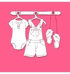 Baby dress vector image vector image