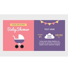 Baby shower invitation template Colored flat vector image vector image