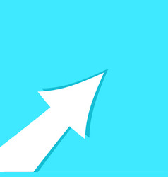 Banner arrow up template vector