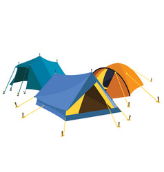 blue yellow tents vector image vector image