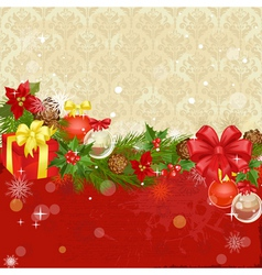 christmas ornament frame vector image vector image